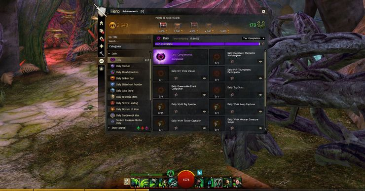 Doing Daily Events - GW2